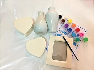 Create your own set 1 Photo Frame, 2 Vases and 2 Jewellery Boxes set