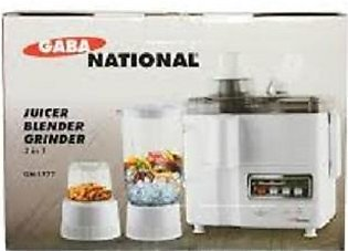 Gaba National GN-1777- Juicer Blender and Grinder - 3 in 1 - White (Brand War...