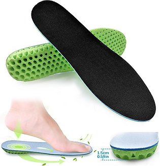 2pcs Sport Shoe Insoles, Invisible Inside Heightening insole Inserts Pads Breat…