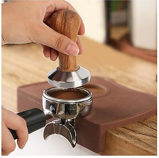 Kitchen Wooden Handle Stainless Steel Base Coffee Powder Press Hammer Tamper To…
