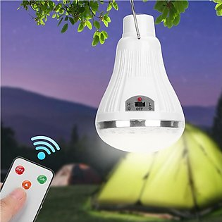 Solar Panel LED Lamp Bulb Portable Outdoor Camping Tent Fishing Light with Remo…