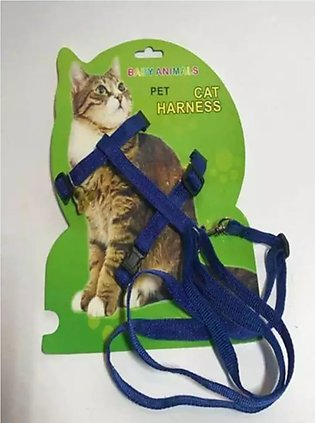 Cat Harness And Leash (BLUE)