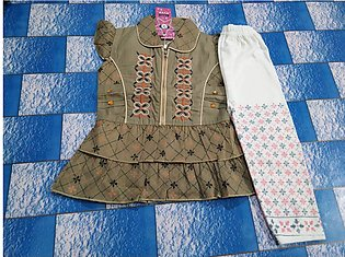 1 to 3 years cotton dress for baby girls imported color skin