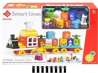 Train Building Blocks Set