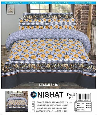 Bed Sheet, Bedsheet, Chenab Multicolor Premium Quality King Size Bed Sheet Se...