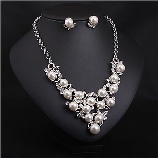 Necklace  Sets Bridal Jewelry - Silver