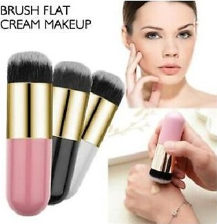 Chubby Pier Foundation Brush Flat Cream Makeup Brushes Professional Cosmetic Ma…