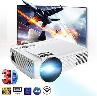 Portable WIFI 3000 LM HD 1080P 3D Multimedia Projector LED Home Theater HDMI USB