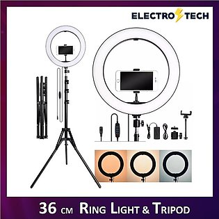 Ring Light 14 Inch / 36cm With 7.5 inch / 68cm Tripod Stand Fill Light Stepless…