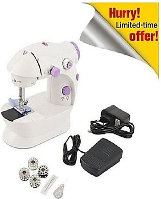 SAMARA SEWING MACHINE Mini Sewing Machine 4 in 1 - White & Purple