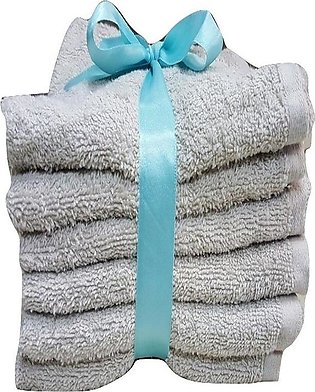Pack of 6 - Egyptian Hand Towel - Silver