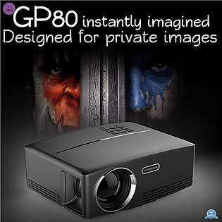GP80 Smart Projector 1080P 1800 Lumens Keystone Correction 2200:1 USB HDMI AV...