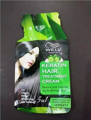Well touch keratin Hair treatment cream restore and rebuild dry and damage hair