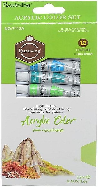 Pack Of 12 - Acrylic Paints