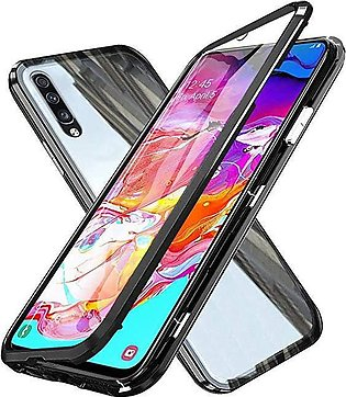 Samsung Galaxy A70 Magnetic Case, Magnetic Technology Metal Frame Case Alumin...