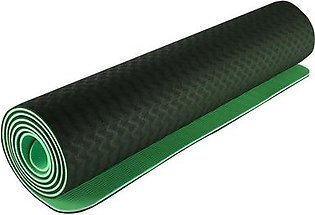 6Mm Tpe Yoga Mat Environmental Protection Anti-Skid Widening And Thickening Beginners Fitness Mat Yoga Mat(Green)