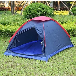 4 Person Parachute Camping Tent - Water Resistant - Multicolor
