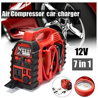 12V Air Compressor Car Charger Battery Jump Starter Small Portable Tyre Inflator