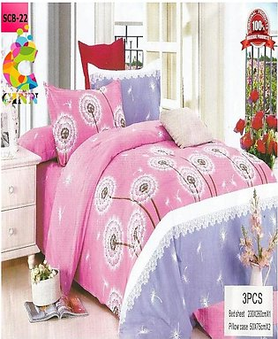 New Cotton Softy Foam Bedsheets With 2 Pillow Covers Scb-22 (R K)
