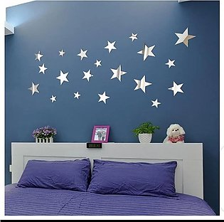 20 Star Shaped Mirror Decals, Acrylic Decal for Home, Living Room or Bedroom Wa…