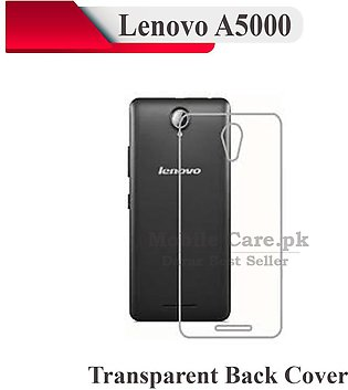 Lenovo A5000 Transparent Back Cover Crystal Clear Cover For Lenovo A5000