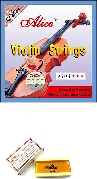 ALICE Violin Strings Set + Advance Violin Rosin