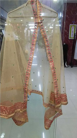 Multi color embroidered fancy dupatta in net stuff by AAIMAs