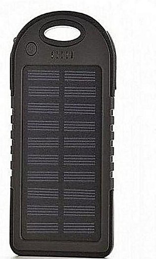 Solar Power Bank 5000 mAh - Black
