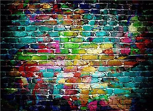 5x3FT Vinyl Graffiti Brick Wall Studio Backdrop Photography Prop Background