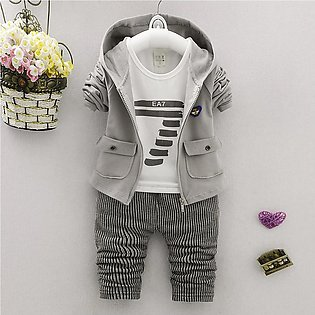 Lovely Newborn Infant Baby Girl Boy Letter Hoodie Tops Pants Coat Clothes Set...