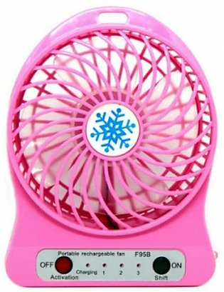 Mini Portable Rechargeable Plastic USB Fan with Power Bank for Travel
