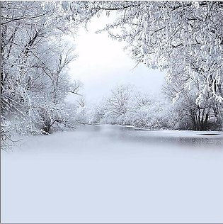 8x8Ft Cold Winter Snow Tree Studio Photography Background Backdrops Props Vinyl