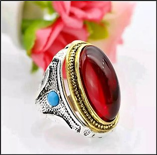 Red Yamni Aqeeq Agate Gemstone Ring For Men