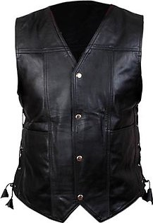 Leatherly Men, Women The Walking Dead Governor - Daryl Dixon Angel Wings Leather Black Vest