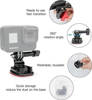 360 Degree Rotate Swivel Helmet Surface Buckle Strap Mount for Gopro 8 OSMO Act…