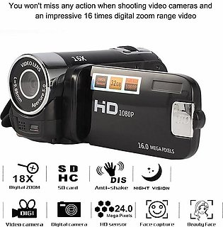 Digital Zoom Camcorder Video 2.7 Inch TFT LCD HD 1080P 16MP 16X DV Camera (N)
