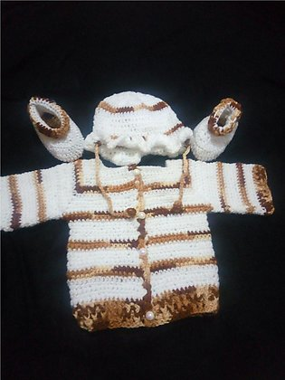 handmade crochet newborn baby girl /boy set