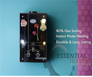CANON Instant Gas Water Heater Geyser TEMPERED GLASS FRONT 8  ltrs  NG + LPG su…
