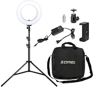 Zomei Camera Photo/Video Outer Ring Light + 50Cm Stand Set Us Plug