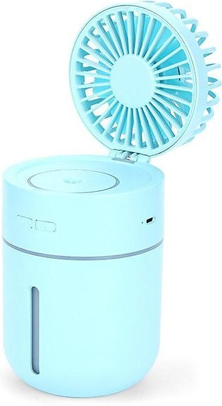 USB Rechargeable Humidifier Air Cooler Office Table Desk Mist Spray Fan