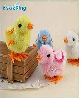 Pack of 12 - Funny Walking Chicken Chick Toys For Kids - Multicolour