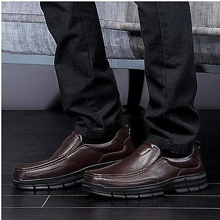 Fashion Men Large Size Men Genuiner Leather Soft Business Casual Formal Shoes