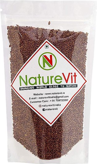 NatureVit Roasted Flax Seeds for Eating - 400g (Salted)