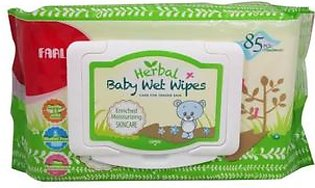 Baby Wipes Herbal Skincare 85Pcs With Cover (Dt006D)