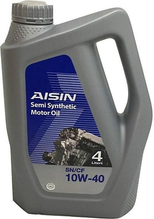 Aisin engine oil 10w40 semi-synthetic 4LTR
