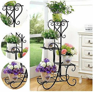 Modern indoor/outdoor flowers plants pot stand stylish and Beautiful 4 plated...