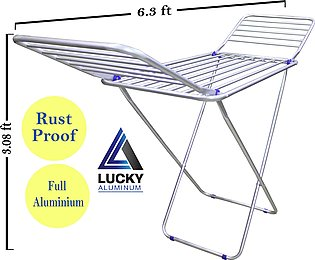 Aluminium Rust Proof Folding Cloth Dryer Stand 6.3 feet Length - Weather Resist…