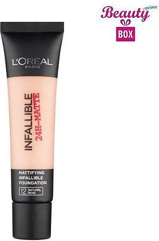 Loreal Infallible 24H Matte Foundation - 12 Natural Rose