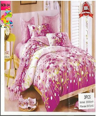 New Cotton Softy Foam Bedsheets With 2 Pillow Covers Scb-14 (R K)
