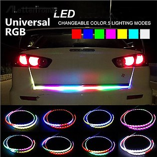 1.2m 12V RGB Colorful Flowing LED Strip Trunk for Blinkers LED Turn Light on Ca…